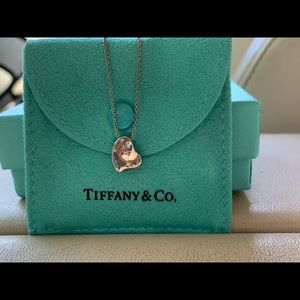 Authentic Tiffany & Co Elsa Peretti heart necklace